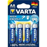 Varta High Energy LR06 AA batterij (penlite) Alkali-mangaan 1.5 V 4 stuks