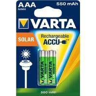 56733 Bli.2  - Akku Solar AAA 2er 1,2V/550mAh/NiMH 56733 Bli.2