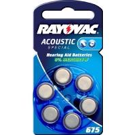 Acoustic S.675 Bli.6 - Hörgerätebatterie Rayovac, PR44 Acoustic S.675 Bli.6