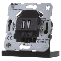 USB lader Berker antraciet mat