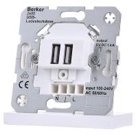 USB lader Berker wit mat