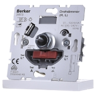 Berker dimmer 2873 20-500 VA met draai aan-uit voor gloei-halogeenlampen