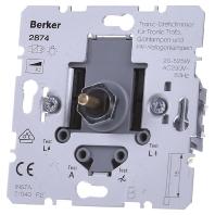 Berker tronic draai dimmer 2874 20-525 VA met draai aan-uit voor gloei-halogeenlampen