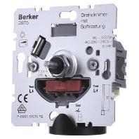 Berker 2875 draaidimmer 60-600 W met draai aan-uit voor gloei-halogeenlampen