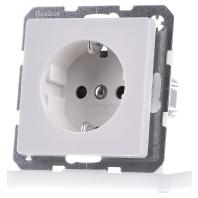 Berker Q.1 stopcontact met randaarde, schroefklemmen en kinderbeveiliging enkel polarwit