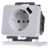 Busch Jaeger stopcontact met USB lader Alpha Nea wit 2011-0-6170