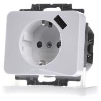 Busch Jaeger stopcontact met usb wit 91010 Alpha 2011-0-6171