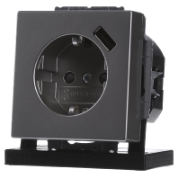 Inbouw stopcontact met usb oplader RVS