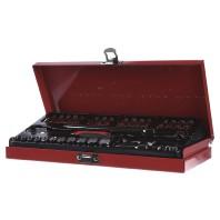 Cimco Steeksleutelset, 33-delig 1-4 inch 280 x 130 x 90 mm 113104