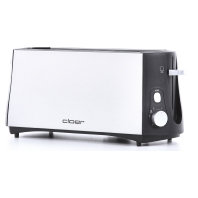 3710 sw/metall matt - Toaster 4 Scheiben 3710 sw/metall matt