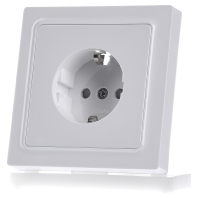 DSS65-wg Socket outlet protective contact white DSS65-wg