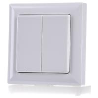 Draadloze afstandsbediening FT55- wit glanzend voor LED dimmer Eltako