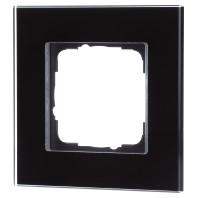 Gira Esprit afdekraam 1-voudig zwartglas