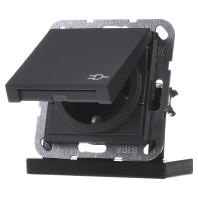 Gira E2 enkel stopcontact antraciet klapdeksel