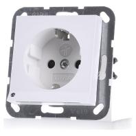 Gira stopcontact met witte LED verlichting kinderveilig wit mat glanzend