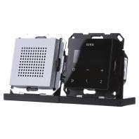 Gira digitale inbouwradio met RDS aluminium