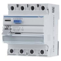 CDA425D Residual current breaker 4-p 25-0,03A CDA425D