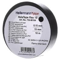 HellermannTyton HelaTape Flex 15 PVC isolatietape HelaTape Flex (l x b) 10 m x 15 mm Zwart PVC Inhou