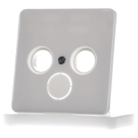 Jung centraalplaat antennesat wit