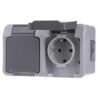 MEG2321-8029 Socket outlet protective contact grey MEG2321-8029, special offer