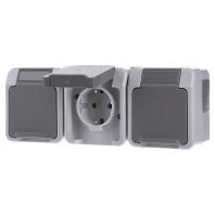 MEG2391-8029 Socket outlet protective contact grey MEG2391-8029, special offer