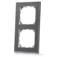 MEG4020-3646 - Decor-Rahmen 2-fach Edelstahl/aluminium MEG4020-3646