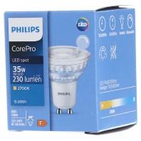 Philips CorePro LEDspot MV GU10 4W 827 36D | Zeer Warm Wit Dimbaar Vervangt 35W