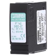 Phoenix Contact 2856032 PT 1X2-24DC-ST overspanningsbeveiligingsstekker