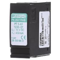 Phoenix Contact 2858043 PT 3-HF-12DC-ST overspanningsbeveiligingsstekker