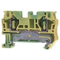 ST 4-PE - Zugfederklemme 0,08-6qmm gn-ge ST 4-PE