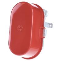 50605.008 - Kunststoff-Ovalleuchte rot A60 60W 50605.008