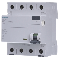 5SV3442-6 Residual current breaker 4-p 25-0,1A 5SV3442-6