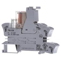 Insteekvoetje met klein schakelrelais WAGO 788-538 2 wisselcontacten 2 x 8 A