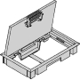 Underfloor device box insert with cover KDE0405 tsw