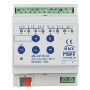 EIB, KNX, Shutter Actuator 4-fold, 4SU MDRC, 10A, 230VAC with travel time measurement, JAL-0410M.02