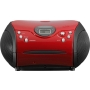 UKW-Radio m.CD stereo,rot/schwarz SCD-24 red/black