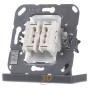 EIB, KNX push button bus coupler 2-fold Switch position, 4072.01 LED