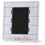 EIB/KNX Glass Push Button II Smart with temperature sensor, White, BE-GT2TW.01