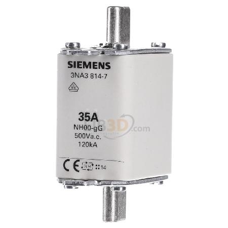 500V 3NA3814-7 00,35A Siemens NH-Sicherungseinsatz Gr
