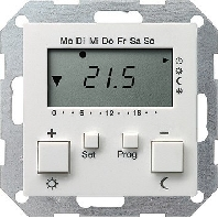 Clock thermostat digital white 237003