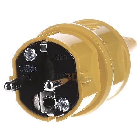 Mennekes Schuko-Stecker 10840 16A,2p+E,230V,ge SCHUKO-Stecker 4015394142973