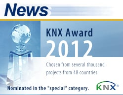 eibmarkt�.com GmbH is nominated for KNX� Award 2012, more information at www.eibmarkt.de