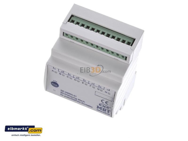 EIB/KNX Binäreingang 8-fach, 4TE REG, Eingänge potentialfrei