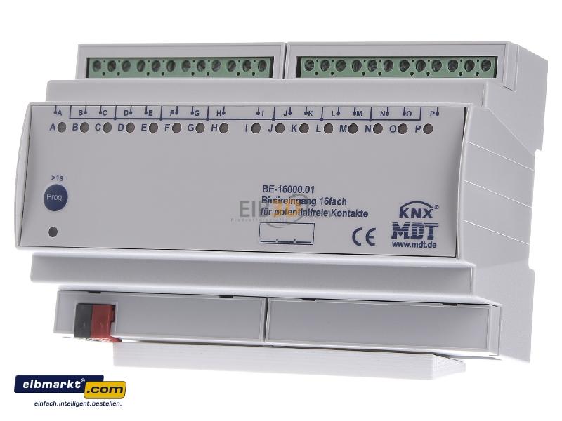 EIB/KNX Binäreingang 16-fach, 8TE REG, Eingänge potentialfrei
