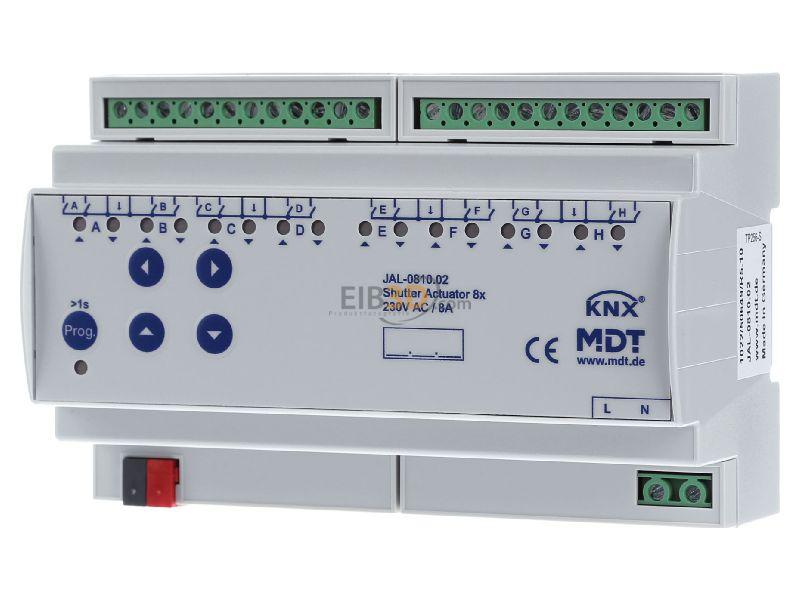 MDT Jalousieaktor 8-fach, 8TE, REG, 10A, 230VAC