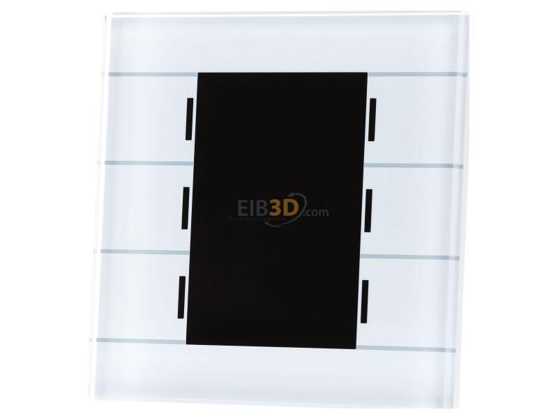 EIB/KNX Glastaster mit 6 Sensorflächen mit Farbdisplay und Temperatursensor, Weiß, BE-GT2TW.01
