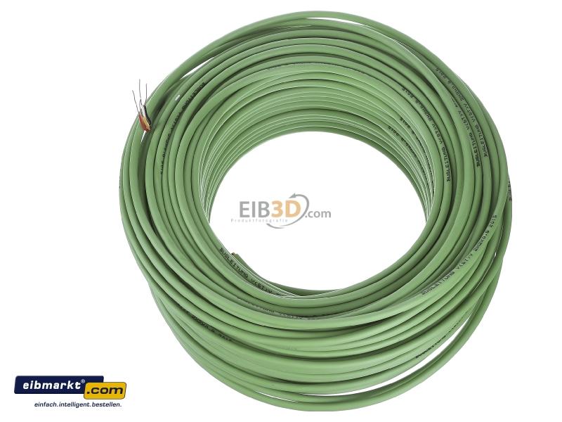 EIB, KNX Busleitung Ring 100m grün mit 4kV Prüfung, EIB-Y(St)Y 2x2x0,8