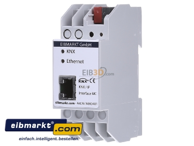 Front view EIBMARKT N000401 EIB KNX IP Interface PoE, with up to 5 tunneling connections
