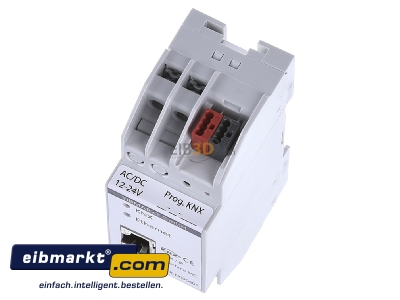 View up front EIBMARKT N000401 EIB KNX IP Interface PoE, with up to 5 tunneling connections