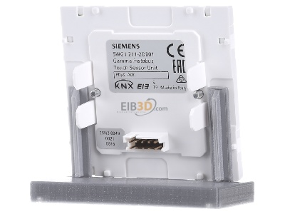 Back view Siemens 5WG1211-2DB01 KNX Touch Sensor Glass unit, single, UP 211/01,_for Glass button